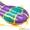 Тюбинг санки надувные ватрушка стьюб стюб Двойной 75 см #1629478