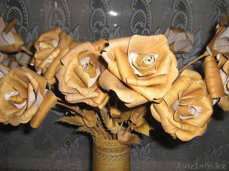 Цветы из бересты для начинающих