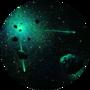 Звездное небо с помощью светящейся краски Acmelight